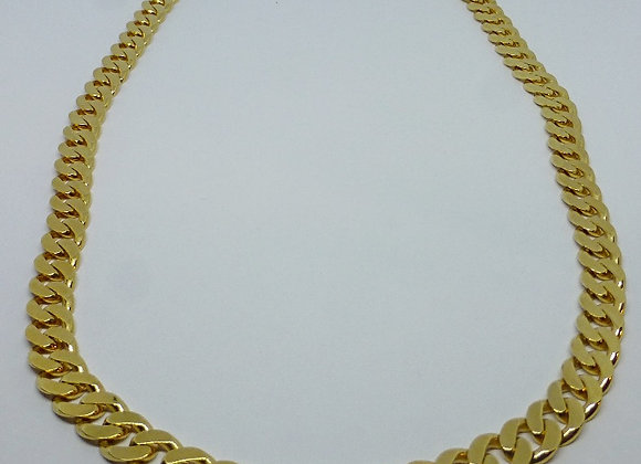 GOLD PLATED SILVER CURB NECKLACE