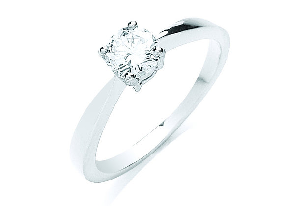 18CT WHITE GOLD .50CT DIAMOND ENGAGEMENT RING