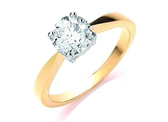 18CT GOLD 1CT DIAMOND ENGAGEMENT RING
