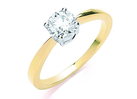 18CT GOLD .70CT DIAMOND ENGAGEMENT RING