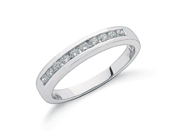 PLATINUM .25CT DIAMOND ETERNITY RING