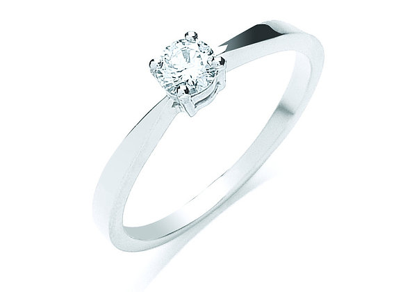 18CT WHITE GOLD .25CT DIAMOND RING