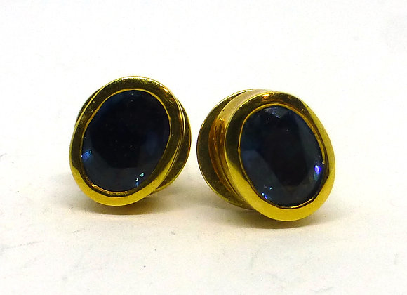 18CT GOLD SPINEL EARRINGS