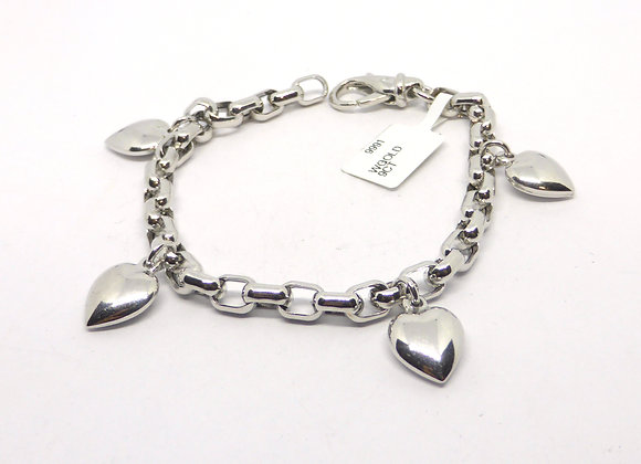 9CT WHITE GOLD CHARM BRACELET
