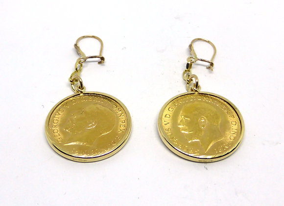 HALF SOVEREIGN EARRINGS