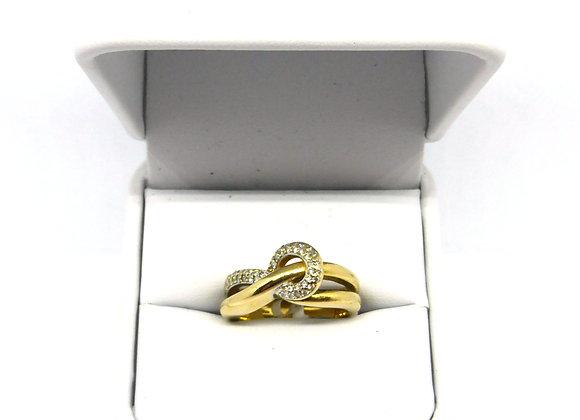 18CT DIAMOND LOVE KNOT RING