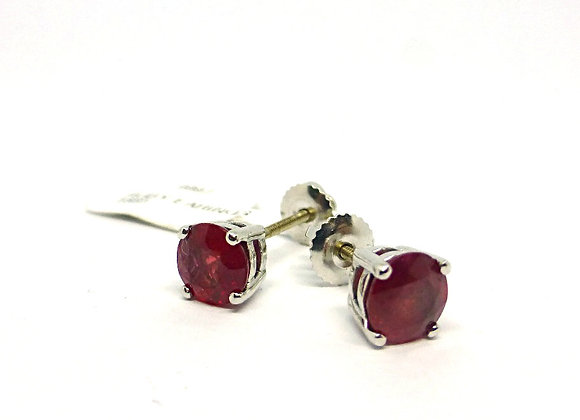 18CT WHITE GOLD 2CT RUBY