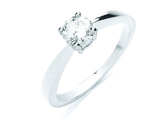 PLATINUM .50CT DIAMOND RING