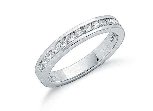 PLATINUM .50CT DIAMOND ETERNITY RING