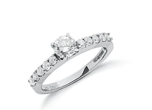18CT WHITE GOLD 1CT DIAMOND RING