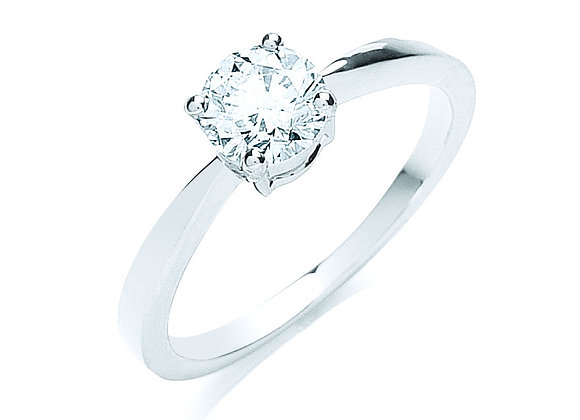 18CT WHITE GOLD .70CT DIAMOND RING