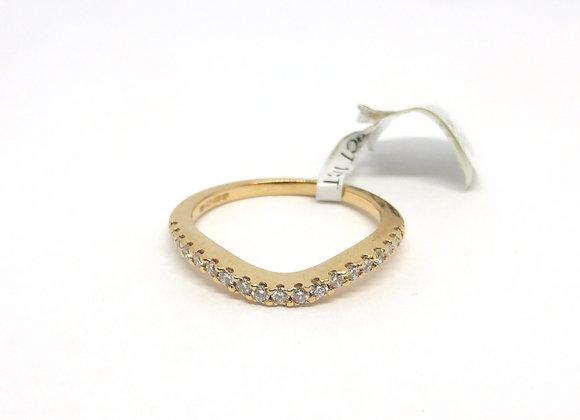 18CT ROSE GOLD 1/4CT DIAMOND RING