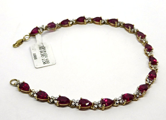 9CT GOLD GEM BRACELET