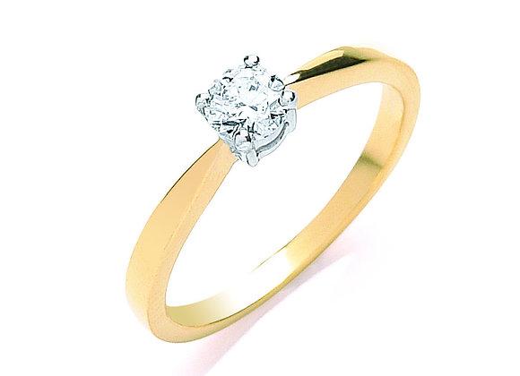 18CT GOLD .35CT DIAMOND ENGAGEMENT RING