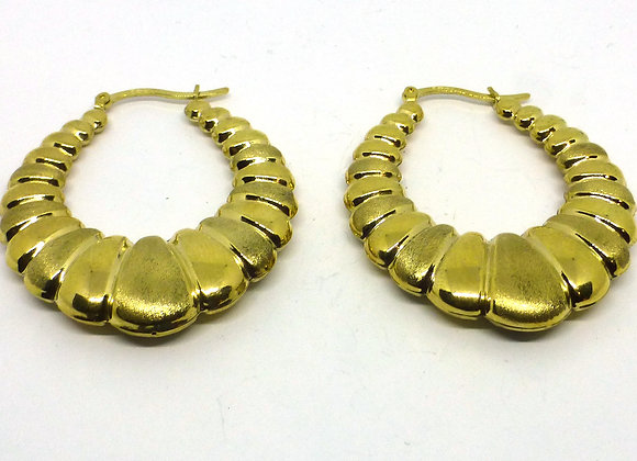 9CT HOOP EARRINGS