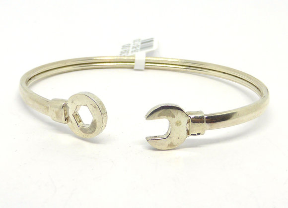 SILVER SPANNER CHILD BANGLE