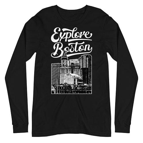 Explore Boston Premium Custom House Tower Long Sleeve Tee