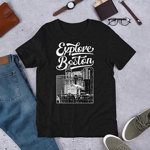 Explore Boston Premium Custom House Tower T-Shirt