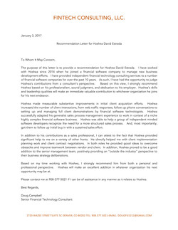 Doug Reference Letter