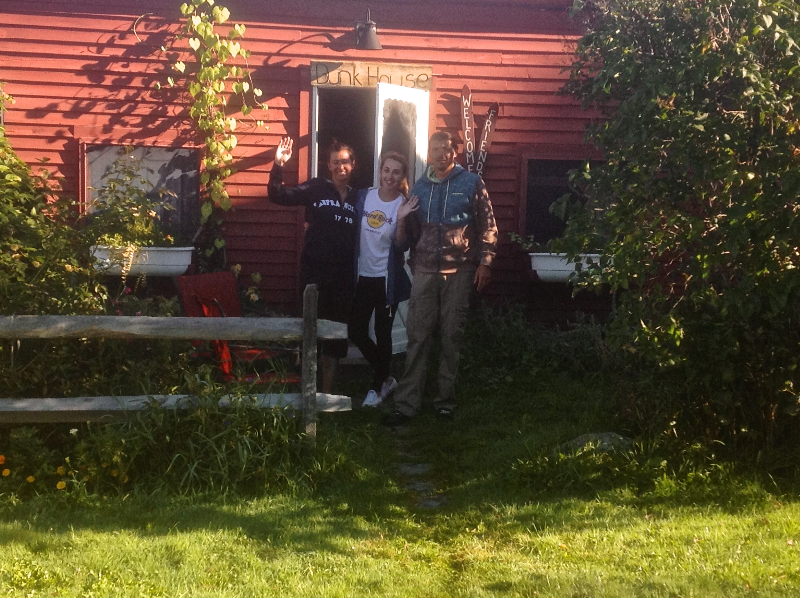 Slovakian visitors at the Bunk House
