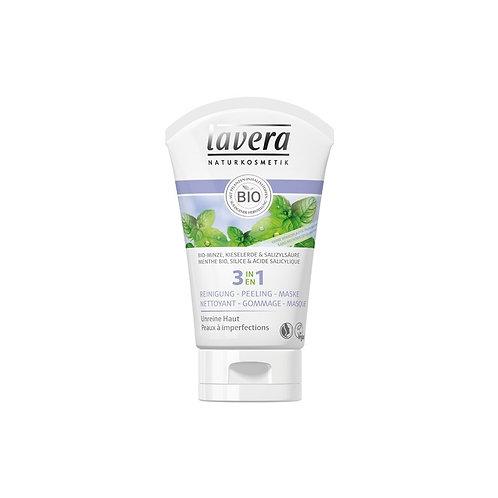 3 en 1 nettoyant, gommage & masque BIO menthe, silice & acide salicylique