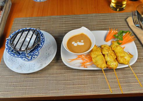 Brochettes de poulet curry