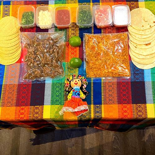Kit Mexicana - 10 Tacos Poulet ou Boeuf (500g)