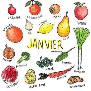 JANVIER - CALENDRIER DE SAISON