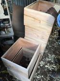 Achat des ruches chez l'ébéniste local