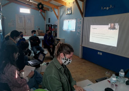 RLS legal coordinator Lucy Alper provides training session to Drop In The Ocean