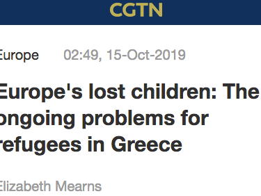 RLS's Ella Dodd spoke to CGTN about Europe's lost children