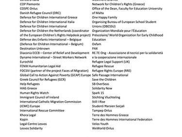 RLS signatory to Refugee Rights Europe's urgent call to action to relocate unaccompanied childre
