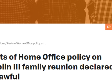 Home Office policy on Dublin III family reunion declared partially unlawful
