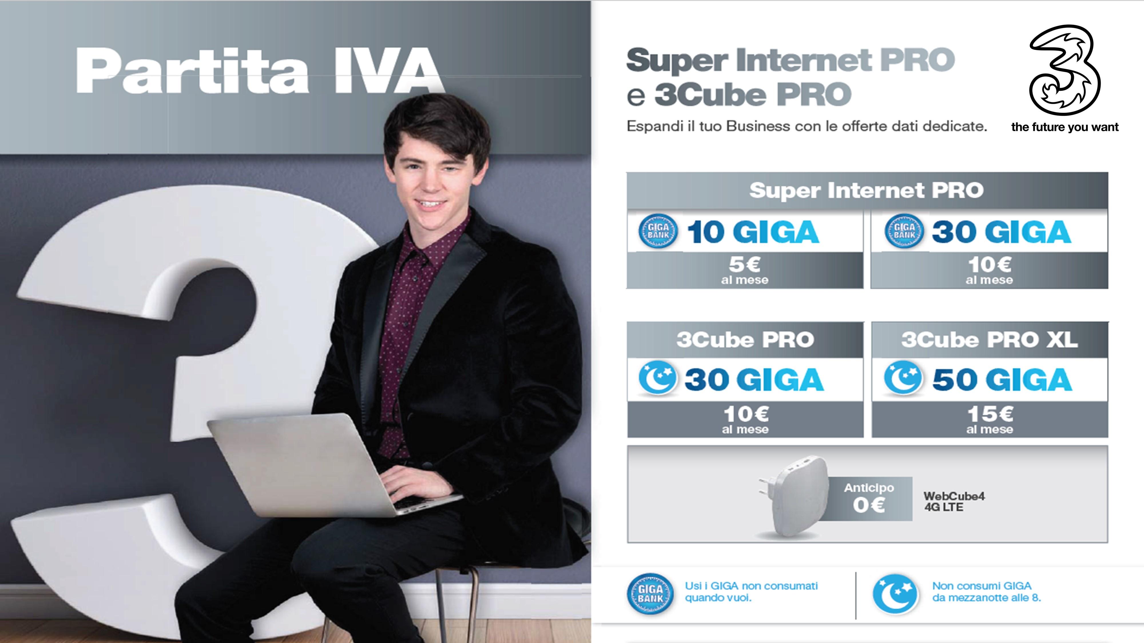 super internet PRO e 3cube PRO P.Iva