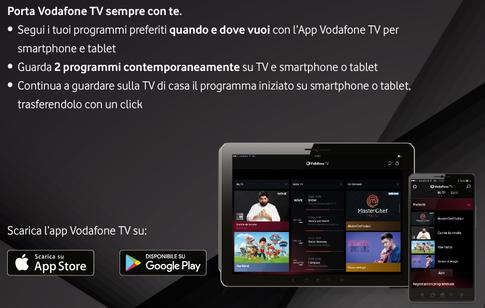vodafone tv sempre con te smartphone e tablet