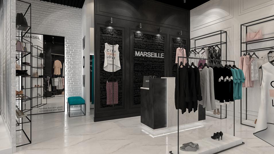 """Дизайн магазина женской одежды """"Marseille"""""""