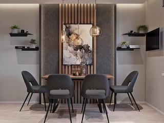 Квартира в стиле минимализм CALM&GRAY 78 м2