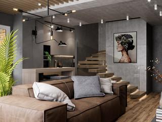 Проект двухярусной квартиры площадью 72 м.кв.