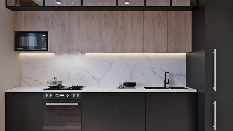 Дизайн проект квартиры  78 м2 в панельном доме в cтиле минимализм