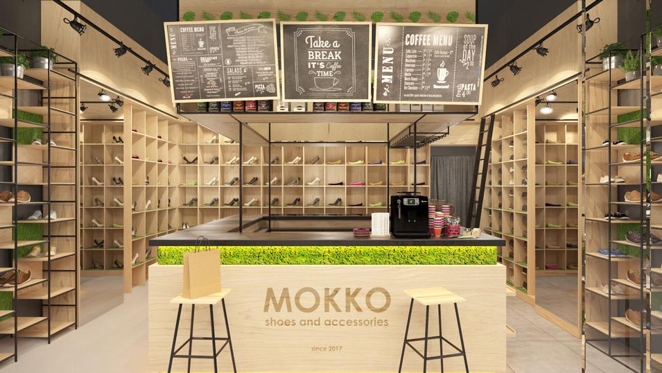 """Проект магазина обуви """"МОККО shoes and accessories"""" 55 м2"""