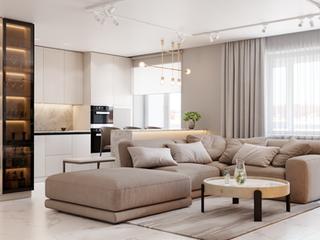 Светлая квартира площадью 74 м.кв. в стиле минимализм
