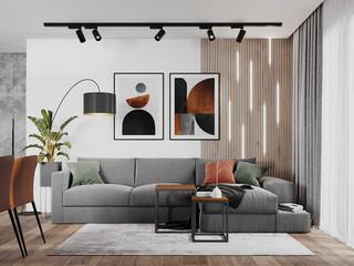 Дизайн двухкомнатной квартиры в ЖК Адмирал Сенявин 90 м2