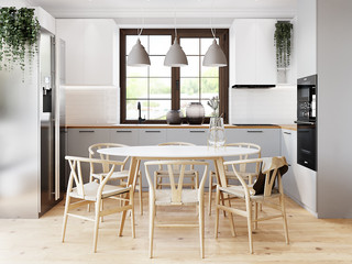 Дизайн дома в скандинавском стиле 140м2.