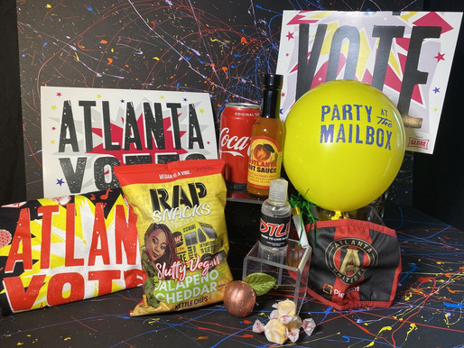 """Celebrate the Georgia Runoff Race with Your FREE Exclusive ATL Edition """"Party at the Mailbox"""""""