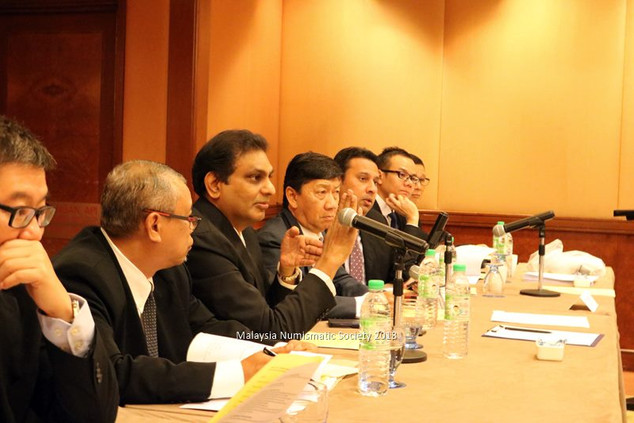 President Prof Dato Dr. Selvaraj making a point