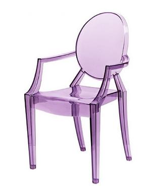 purple kids ghost chair
