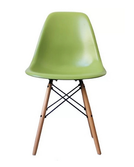 kids wooden leg chair green