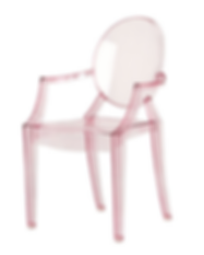 pink kids ghost chair