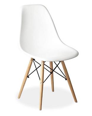 kids wooden leg chair white