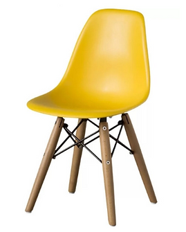 kids wooden leg chair yellow